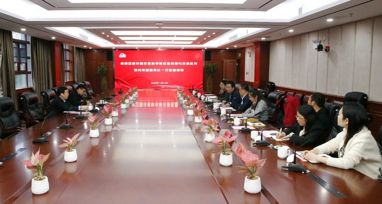 中国农科院农业资源与农业区划研究所所长杨鹏一行到信息所调研